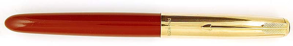 Parker 51 Custom in burgundy, Gold cap - Fine nib