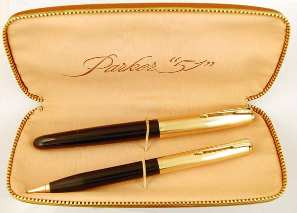 Parker 51 Custom Vacumatic Set in black - Medium nib
