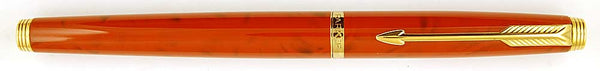 Parker 75 Pen in red quartz laque - XXB Reverse Oblique nib
