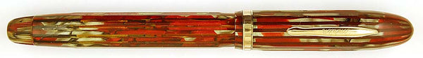 Conklin Nozac 5-M Word Guage in Silver & Red Marble - Medium nib