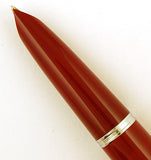 Parker 51 Classic in burgundy, Steel cap - Medium nib