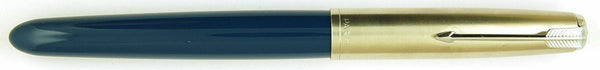 Parker 51 Classic in teal blue, Steel cap - Broad nib