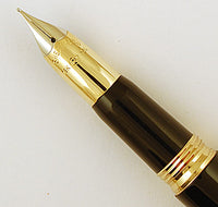Sheaffer Crest fountain pen/ballpen in black with gold cap - Medium nib
