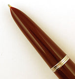 Parker 51 Classic in dark burgundy, Steel cap - Medium stub nib