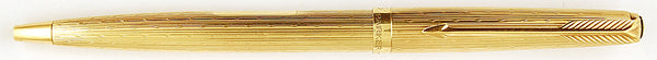 Parker 61 Presidential ballpen in 9k gold waterdrop design