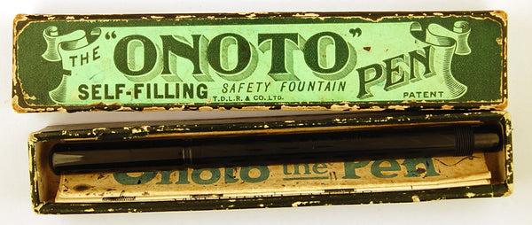 De La Rue Onoto Self Filling Pen, Boxed - Medium nib