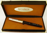 Parker 51 Classic Mk2 in black, Steel cap, boxed - Fine nib