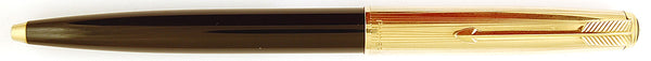 Parker 51 Custom ballpen in grey - Rolled gold cap