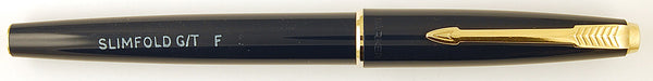 Parker New Slimfold in blue - Fine nib