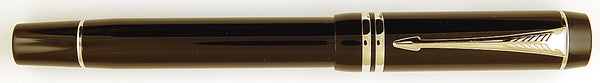 Parker Duofold International in black - Platinum Trim - Medium nib