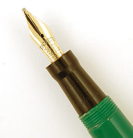 Mabie Todd Blackbird 5276 in green - Broad nib