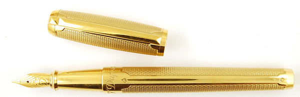 S T Dupont Bogey Collection - Humphrey Bogart Elysee Fountain Pen and Rollerball