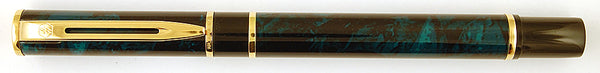 Waterman Laureat in green/black marble - Broad nib