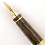 Parker 75 in gold plated grain d'orges - Medium Italic nib