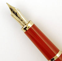 Sailor Fountain pen in red with butterflies - Medium nib