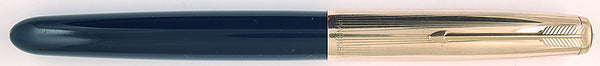 Parker 51 Custom in Midnight Blue, Gold cap - Fine nib