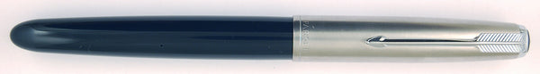 Parker 51 Classic in Midnight Blue, Steel cap - Medium Stub nib
