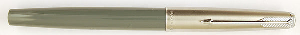 Parker 51 Classic Mk2 in grey with Steel cap - Medium nib