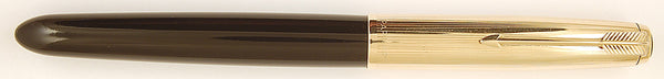 Parker 51 Custom in black, Gold cap - Medium nib