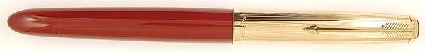 Parker 51 Custom in light burgundy, Gold cap - Medium nib