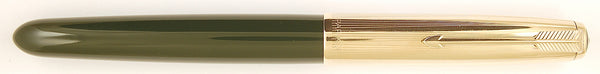 Parker 51 Custom in forest green, Gold cap - Medium nib