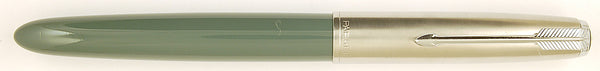 Parker 51 Classic in grey, Steel cap - Medium Italic nib