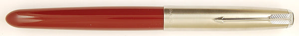Parker 51 Classic in burgundy, Steel cap - Medium Italic nib