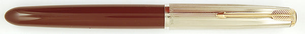 Parker 51 Custom in burgundy, Rolled Silver cap - Fine nib