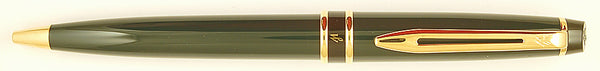 Waterman Expert ballpoint in dark green with gold trim