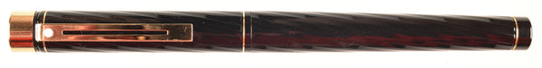 Sheaffer Targa in black spiral - Medium 14k nib
