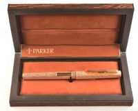 Parker 105 in gold plated bark finish - Medium 14k nib