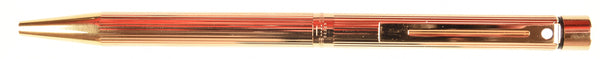 Sheaffer Targa Ballpoint in fluted patterm, gold trim