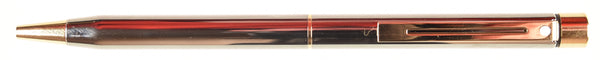 Sheaffer Targa Ballpoint in metallic gunmetal, gold trim
