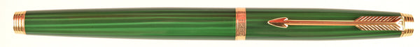 Parker 75 in Malachite green with Chinese characters - Extra fine 18k nib