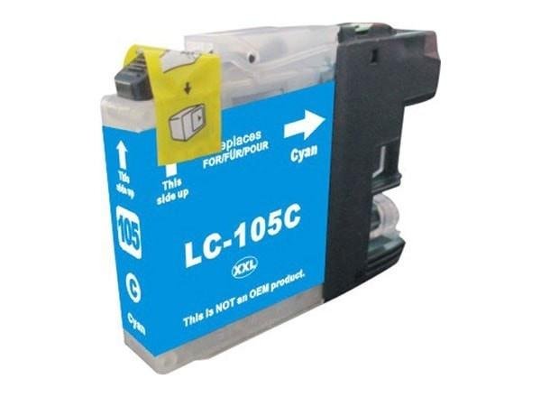 Brother LC105C Compatible Extra High Yield Cyan Ink Cartridge (LC105) - Precision Toner