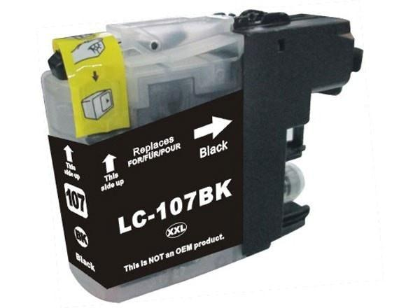 Brother LC107BK Compatible Extra High Yield Black Ink Cartridge (LC107) - Precision Toner