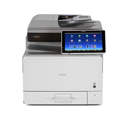 REPOSSESSED Only 3k pages Ricoh MP C307 Color Laser Multifunction Printer Copier Scanner
