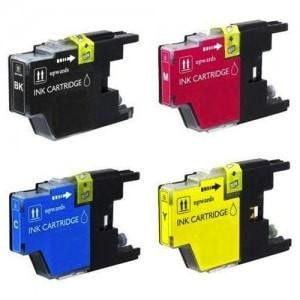 4 Brother LC-75 Compatible Ink Cartridge Combo (Black, Cyan, Magenta, Yellow) - Precision Toner
