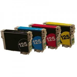 Compatible for Epson T125 Ink Cartridges Package of 4 - Absolute Toner