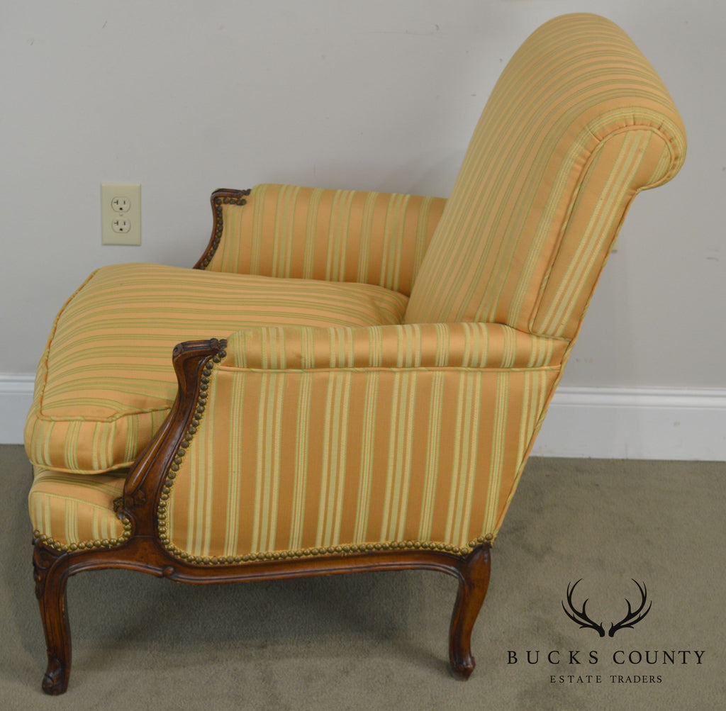 Terrific French Louis Xv Style Vintage 1940S Bergere Club Chair Ocoug Best Dining Table And Chair Ideas Images Ocougorg