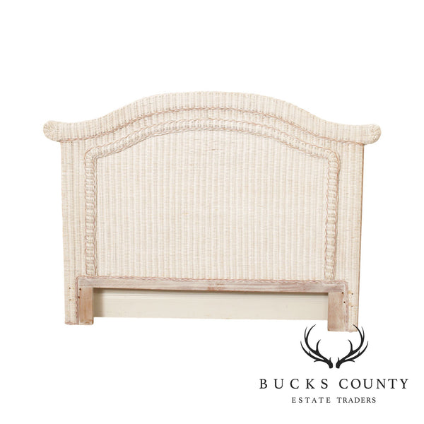 Vintage Wicker Queen Headboard