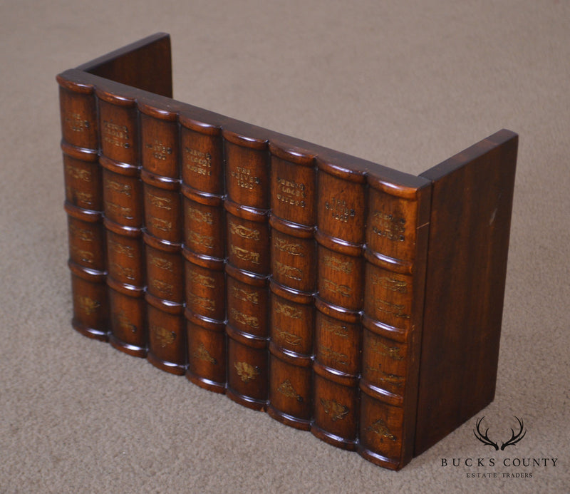 Maitland Smith Carved Wood Faux Book Facade