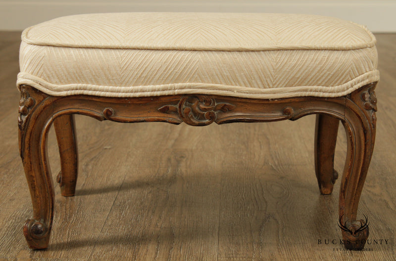 French Louis XV Style Custom Quality Vintage Footstool