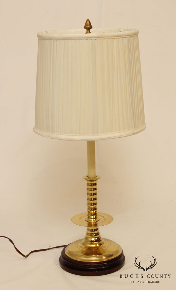 Knob Creek Vintage Brass Candlestick Table Lamp
