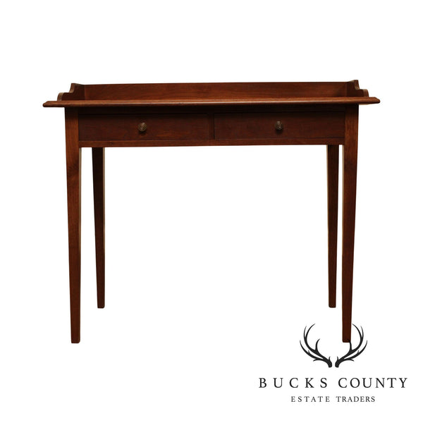 R. Wurster Hand Crafted Solid Walnut Hepplewhite Style Writing Desk