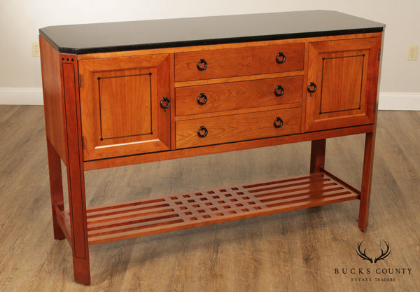 Stickley 21st Century Collection Cherry Granite Top Inlaid Sideboard