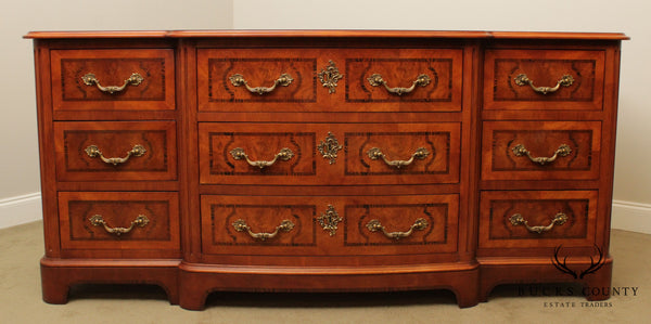 Henredon French Regency Burl Wood Long Dresser