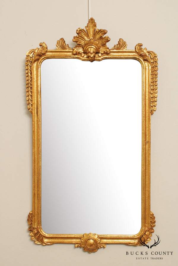 Vintage Italian Gilt Wood Frame Wall Mirror
