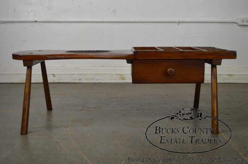 Antique Country Cobbler Table w/ Drawer