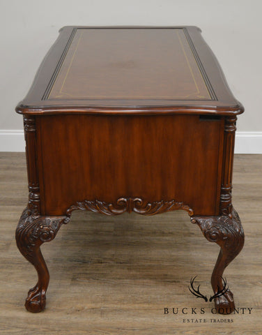 Sligh Ellis Line Mahogany Claw Foot Leather top Executive Desk B